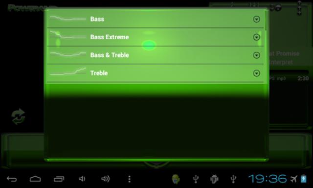 Poweramp skin Green Glas delux screenshot 10