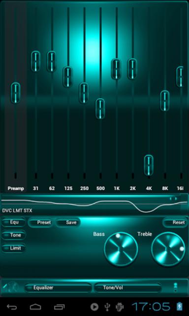 Poweramp SKIN TURQUOISE METAL screenshot 2