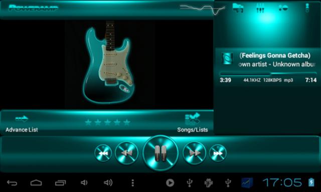 Poweramp SKIN TURQUOISE METAL screenshot 6
