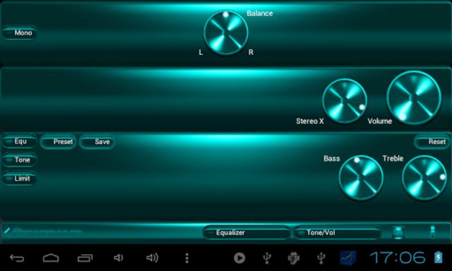 Poweramp SKIN TURQUOISE METAL screenshot 8