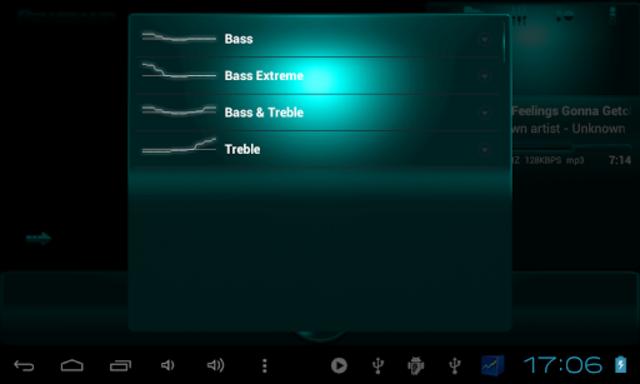Poweramp SKIN TURQUOISE METAL screenshot 9