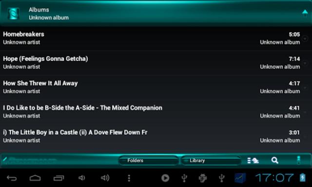Poweramp SKIN TURQUOISE METAL screenshot 10