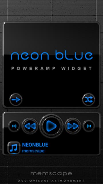 NEON BLUE Poweramp Widget screenshot 1