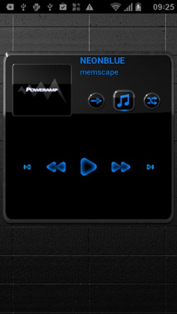 NEON BLUE Poweramp Widget screenshot 2