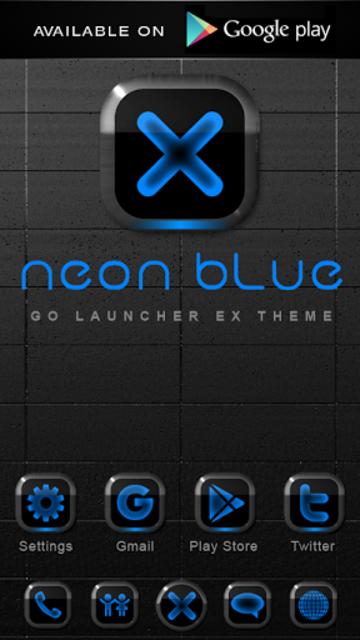 NEON BLUE Poweramp Widget screenshot 4