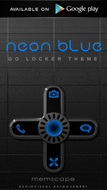 NEON BLUE Poweramp Widget screenshot 5