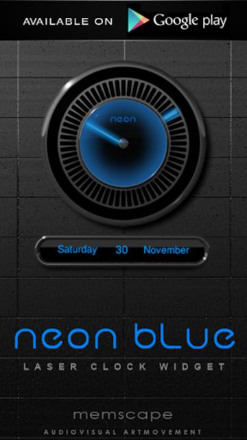 NEON BLUE Poweramp Widget screenshot 6