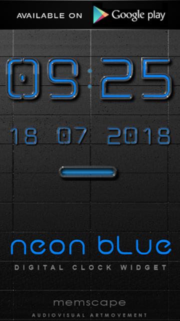 NEON BLUE Poweramp Widget screenshot 7