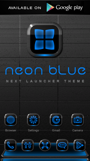 NEON BLUE Poweramp Widget screenshot 8