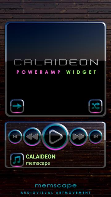 CALAIDEON Poweramp Widget screenshot 1
