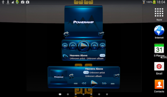 Poweramp widget BLACK BLUE screenshot 3