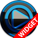 Icon for Poweramp widget BLACK BLUE