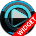 Icon for Poweramp widget BLACK L. Blue
