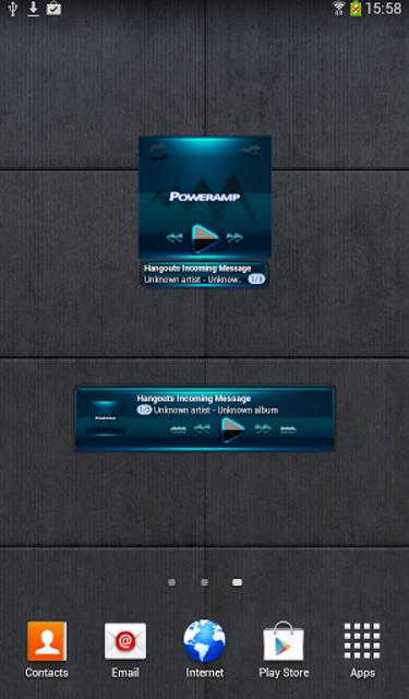 Poweramp widget BLACK L. Blue screenshot 2