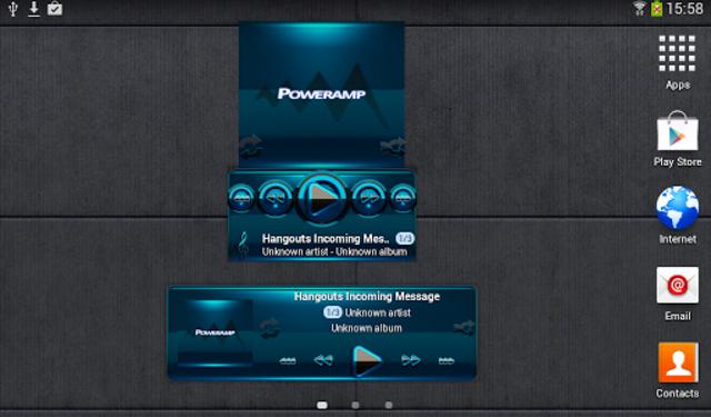 Poweramp widget BLACK L. Blue screenshot 3