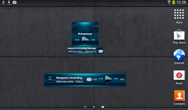 Poweramp widget BLACK L. Blue screenshot 4