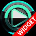 Icon for Poweramp widget - BLACK Mint