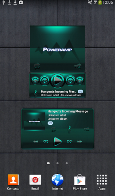 Poweramp widget - BLACK Mint screenshot 1