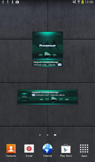 Poweramp widget - BLACK Mint screenshot 2
