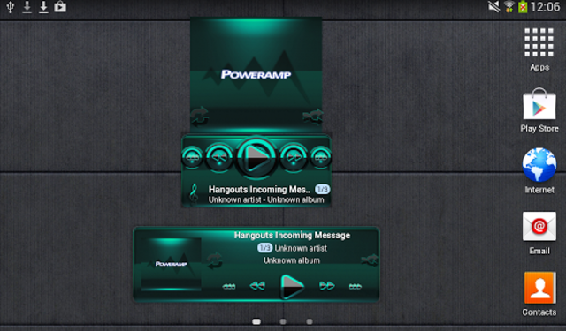 Poweramp widget - BLACK Mint screenshot 3