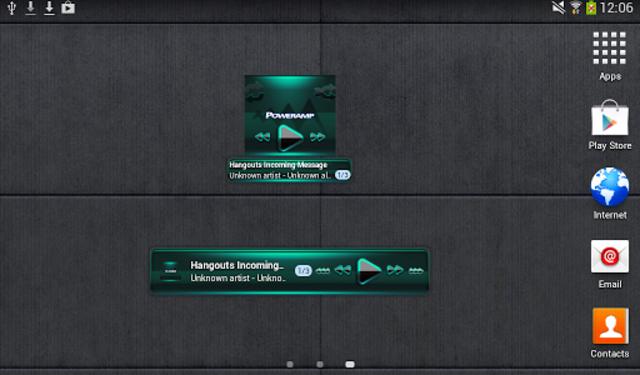 Poweramp widget - BLACK Mint screenshot 4