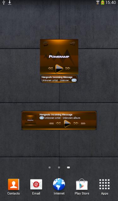 Poweramp widget - BLACK Orange screenshot 2