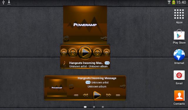 Poweramp widget - BLACK Orange screenshot 3