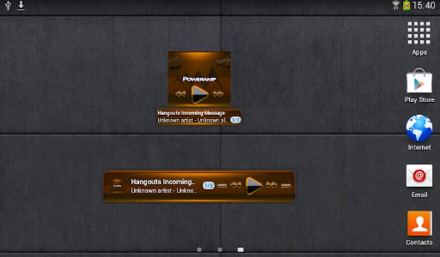 Poweramp widget - BLACK Orange screenshot 4