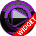 Icon for Poweramp widget - BLACK Purple
