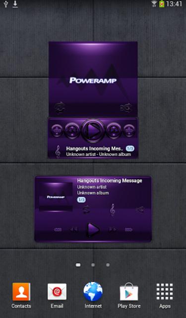 Poweramp widget - BLACK Purple screenshot 1