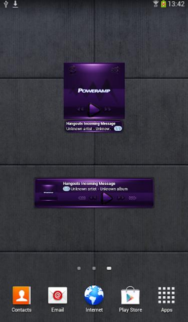Poweramp widget - BLACK Purple screenshot 2