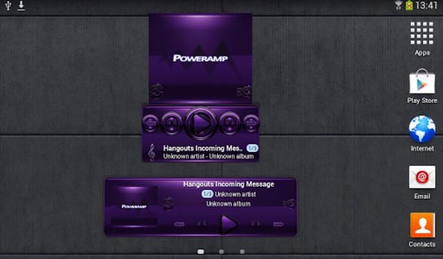 Poweramp widget - BLACK Purple screenshot 3