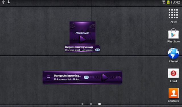 Poweramp widget - BLACK Purple screenshot 4
