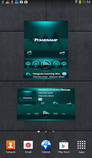 Poweramp widget BLACK Turquois screenshot 1