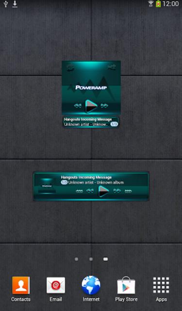 Poweramp widget BLACK Turquois screenshot 2