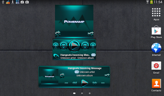 Poweramp widget BLACK Turquois screenshot 3