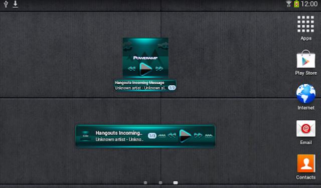 Poweramp widget BLACK Turquois screenshot 4