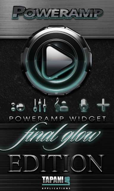 Poweramp widget Petrol Glow screenshot 1