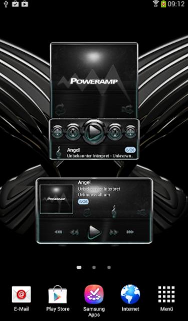 Poweramp widget Petrol Glow screenshot 3