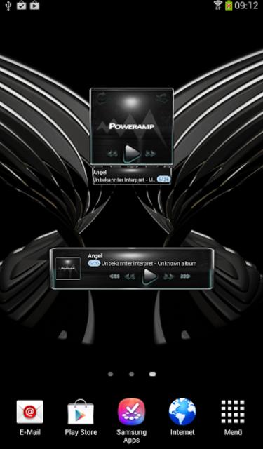 Poweramp widget Petrol Glow screenshot 4