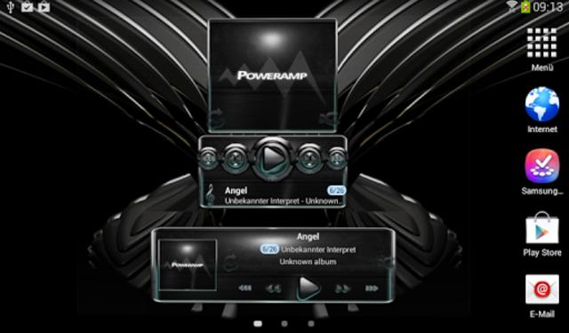 Poweramp widget Petrol Glow screenshot 5