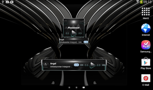 Poweramp widget Petrol Glow screenshot 6