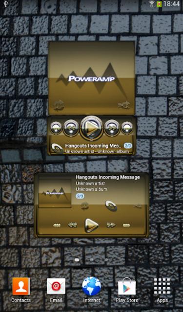 Poweramp widgetpack Gold Glas screenshot 1