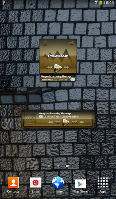 Poweramp widgetpack Gold Glas screenshot 2