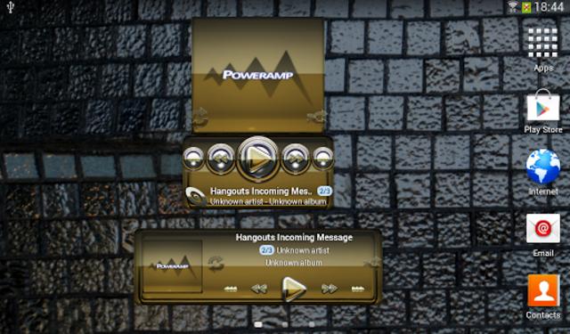 Poweramp widgetpack Gold Glas screenshot 3