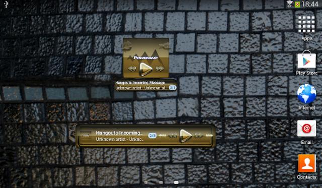 Poweramp widgetpack Gold Glas screenshot 4