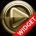 Icon for Poweramp widgetpack Gold Glas