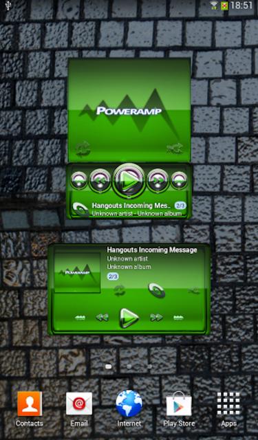 Poweramp widgetpack Green Glas screenshot 1