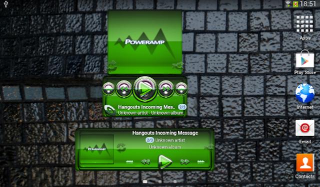 Poweramp widgetpack Green Glas screenshot 3