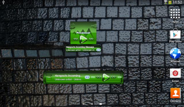 Poweramp widgetpack Green Glas screenshot 4